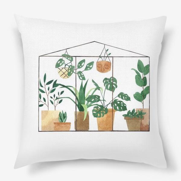 Подушка «Теплица. Домашние цветы в горшках»