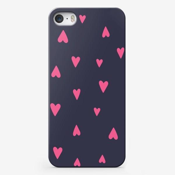 Чехол iPhone «Паттерн сердечки 2»
