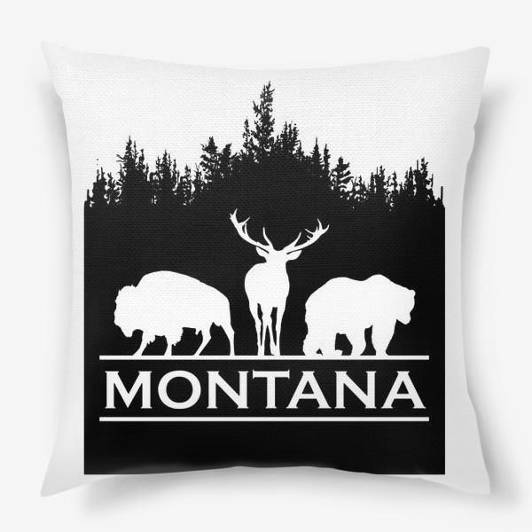 Подушка «Символ Монтаны»