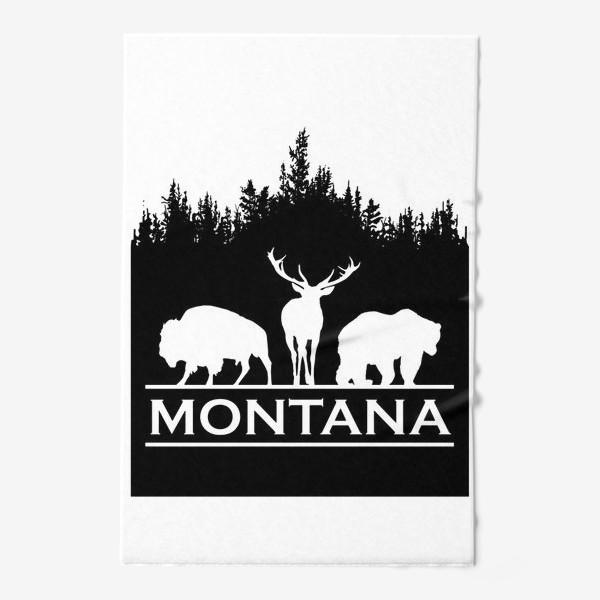 Полотенце «Символ Монтаны»
