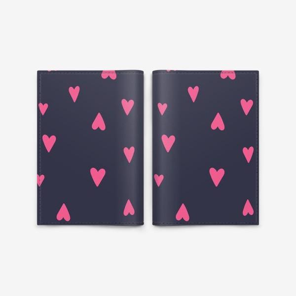Обложка для паспорта «Паттерн сердечки 2»