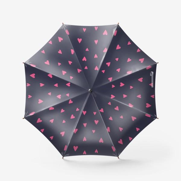 Зонт «Паттерн сердечки 2»