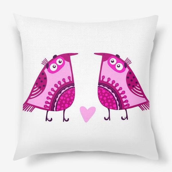 Подушка «Мои птички 3»