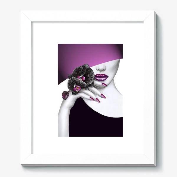 Картина «Чёрная орхидея»