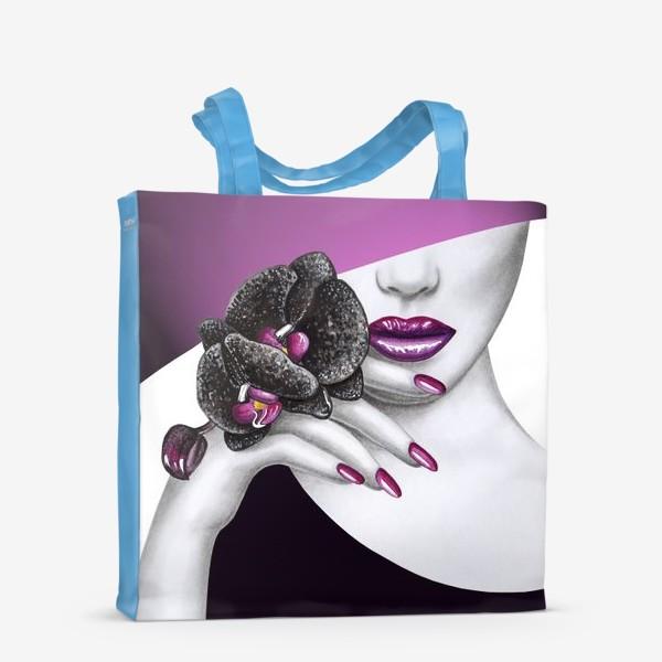 Сумка-шоппер «Чёрная орхидея»