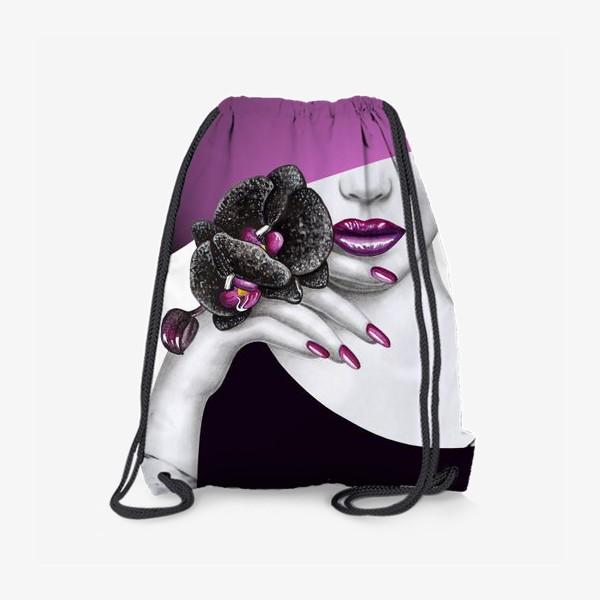 Рюкзак «Чёрная орхидея»