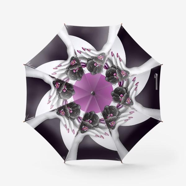 Зонт «Чёрная орхидея»