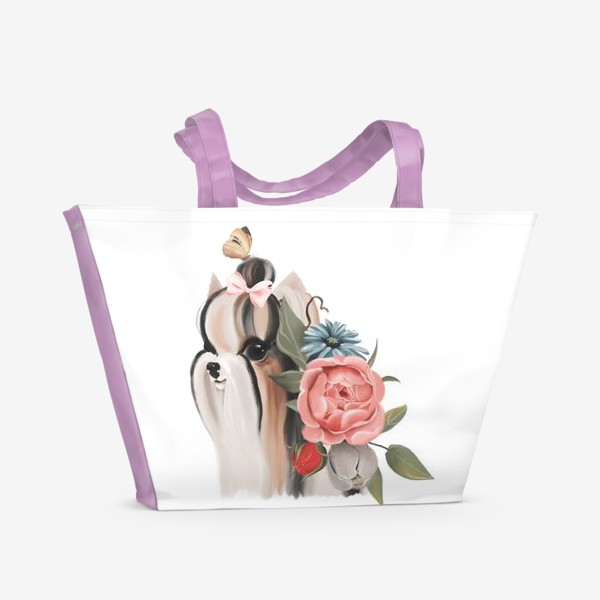 Пляжная сумка «Йоркширский терьер»