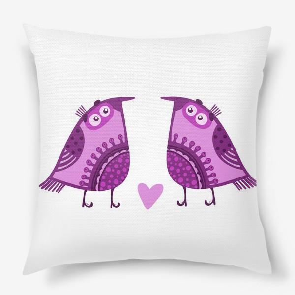 Подушка «Мои птички»
