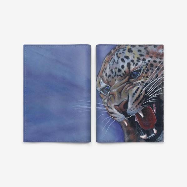 Обложка для паспорта «Леопард »