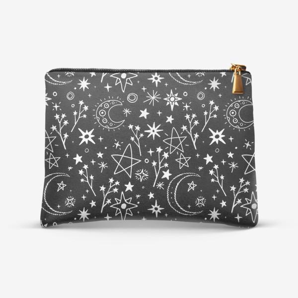 Косметичка «Звездное небо в стиле дудл»