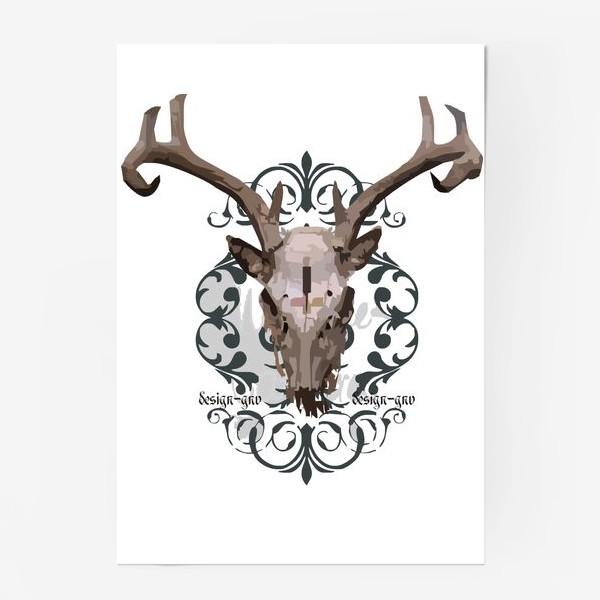 Постер «Череп оленя »