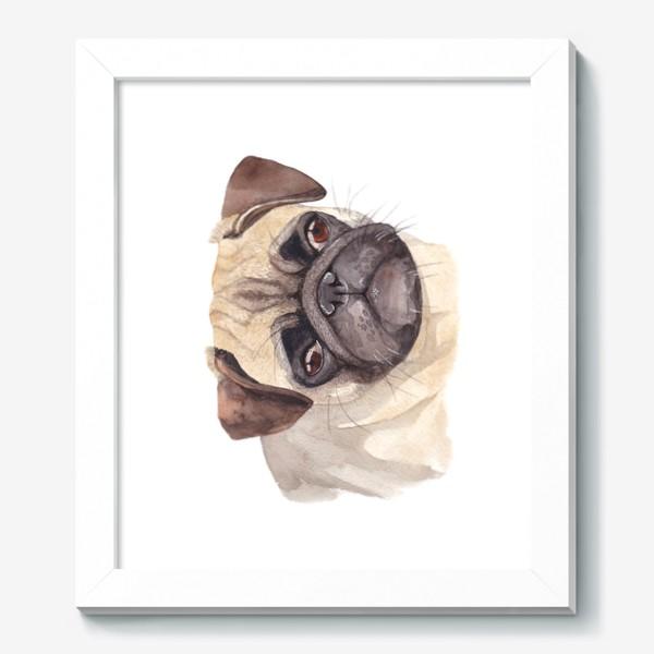 Картина «Грустный мопс»