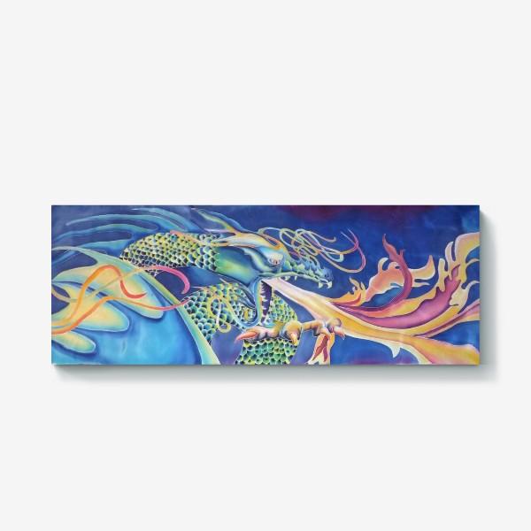 Холст «Синий дракон »