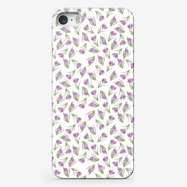 Чехол iPhone «Крокусы на белом»