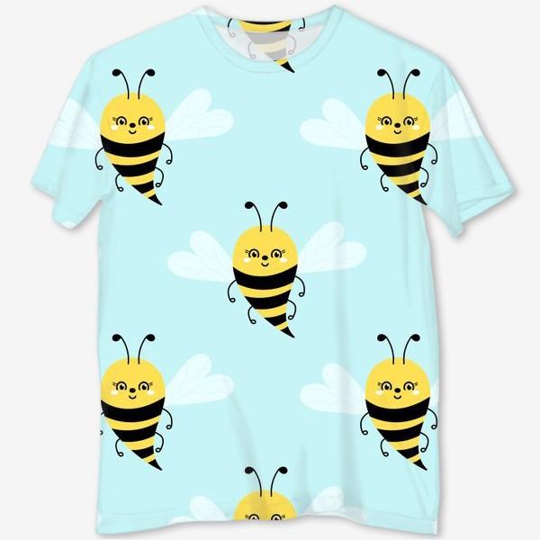 Футболка с полной запечаткой «Прелестные пчелки»