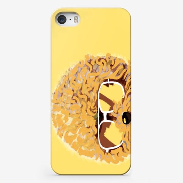 Чехол iPhone «Кто со мной гулять? Пудель в очках. Жизнь после карантина»