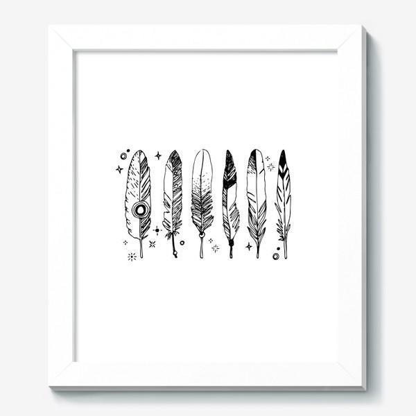 Картина «Набор черно-белых перьев»