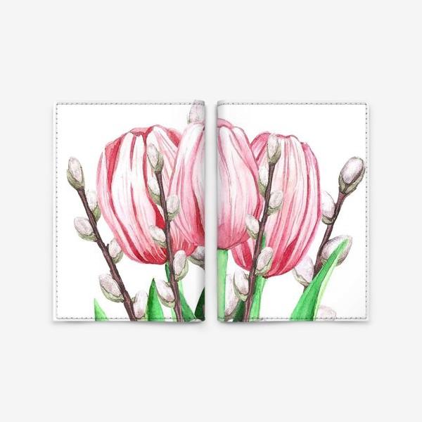 Обложка для паспорта «весенний букетик»