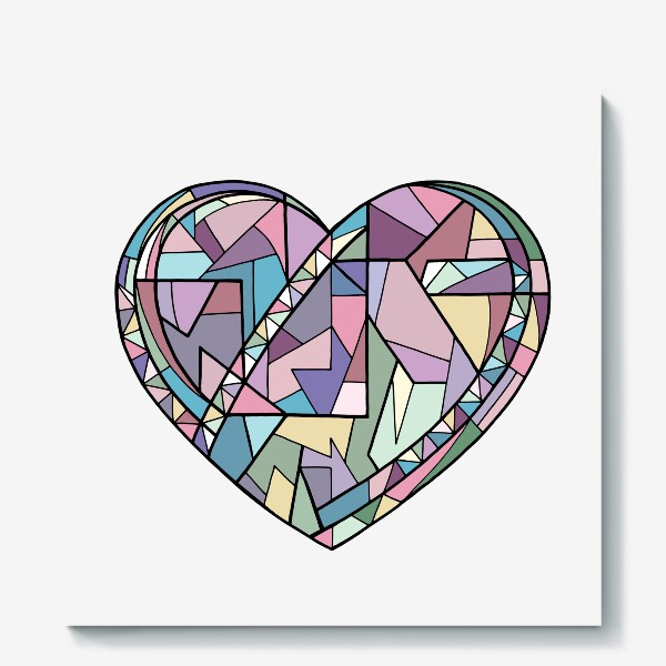 Холст «Сердце геометрия»