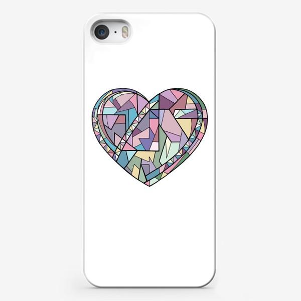Чехол iPhone «Сердце геометрия»