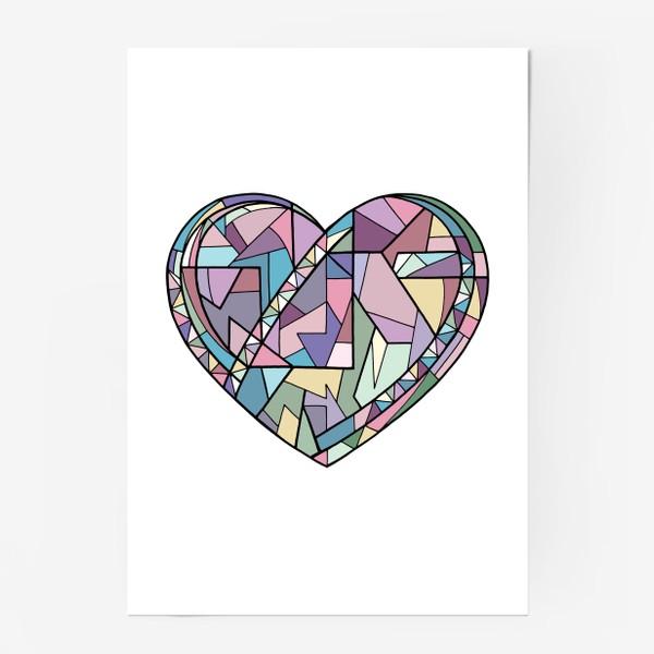 Постер «Сердце геометрия»