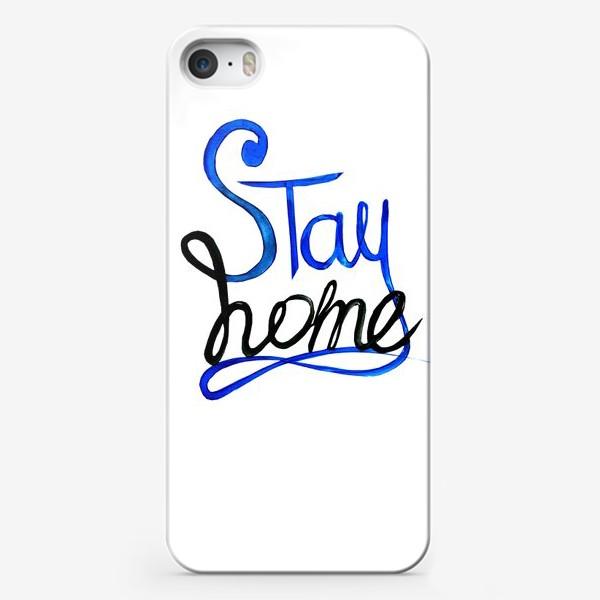 Чехол iPhone «Оставайся дома»