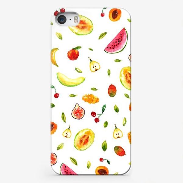 Чехол iPhone «Фрукты Летний паттерн»