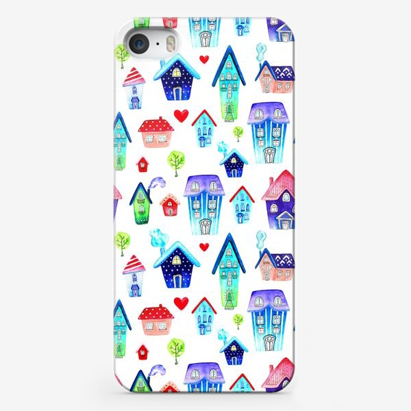 Чехол iPhone «Домики паттерн»