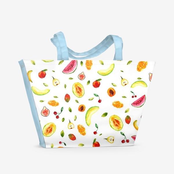 Пляжная сумка «Фрукты Летний паттерн»