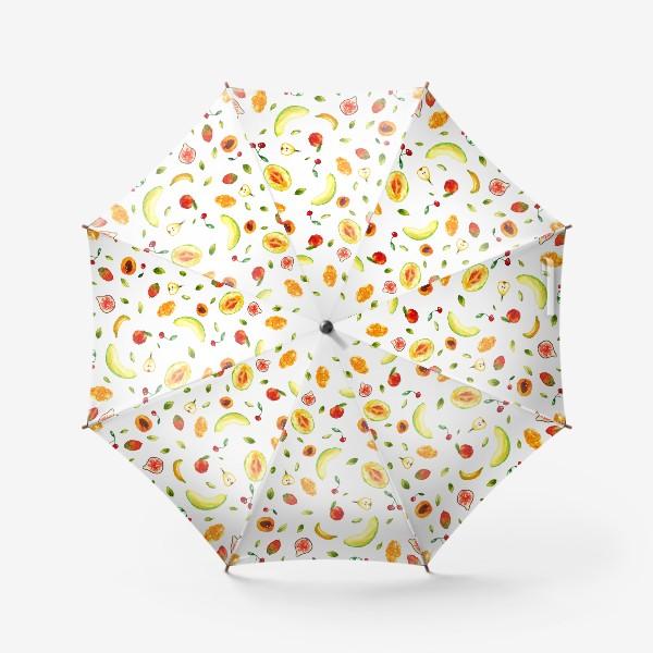 Зонт «Фрукты Летний паттерн»