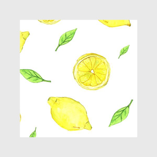 Шторы «Яркие желтые лимоны»