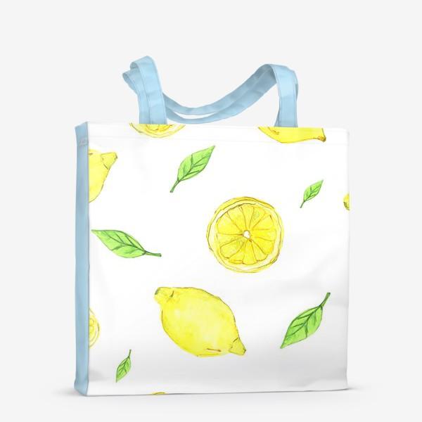 Сумка-шоппер «Яркие желтые лимоны»