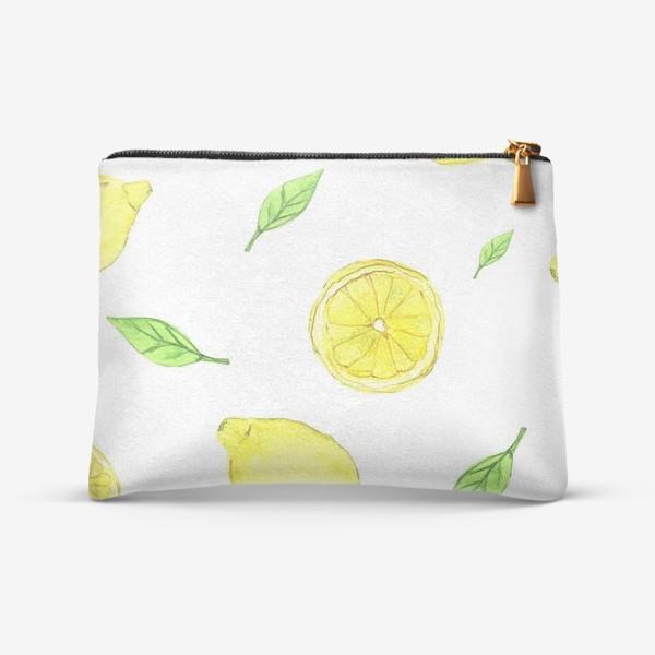 Косметичка «Яркие желтые лимоны»