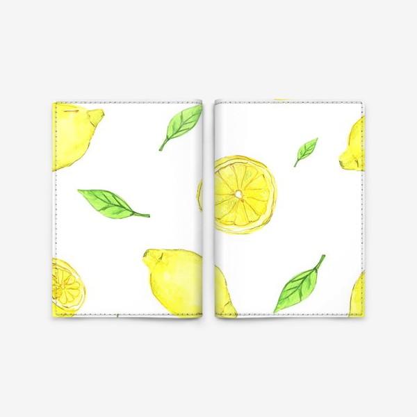 Обложка для паспорта «Яркие желтые лимоны»