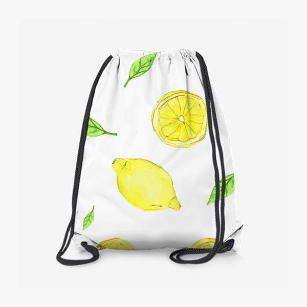 Рюкзак «Яркие желтые лимоны»