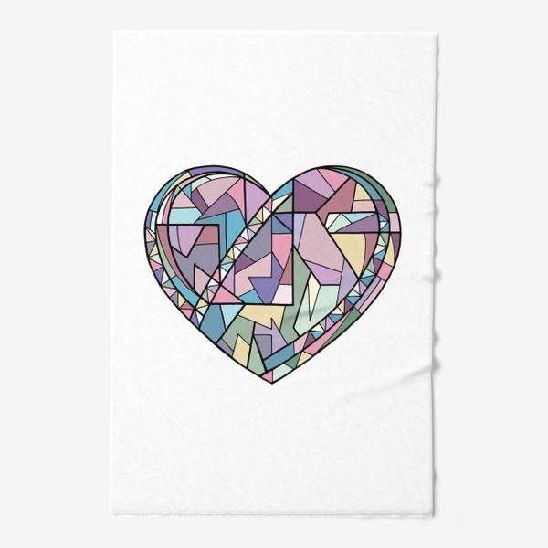 Полотенце «Сердце геометрия»