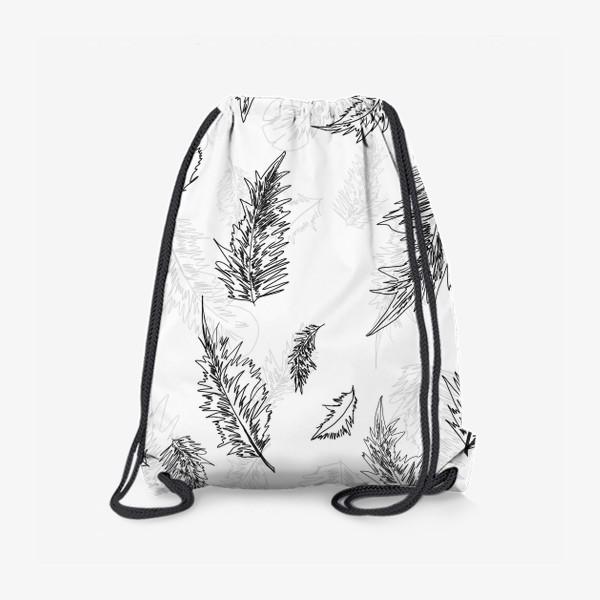 Рюкзак «Перья монохром»