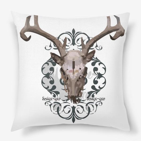 Подушка «Череп оленя »