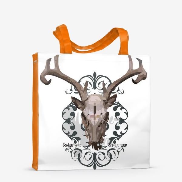 Сумка-шоппер «Череп оленя »