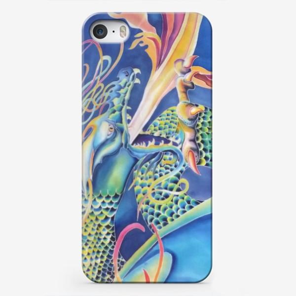 Чехол iPhone «Синий дракон »