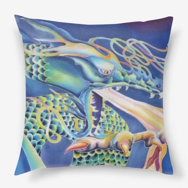 Подушка «Синий дракон »