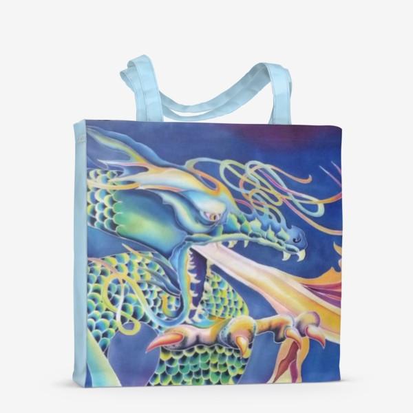 Сумка-шоппер «Синий дракон »