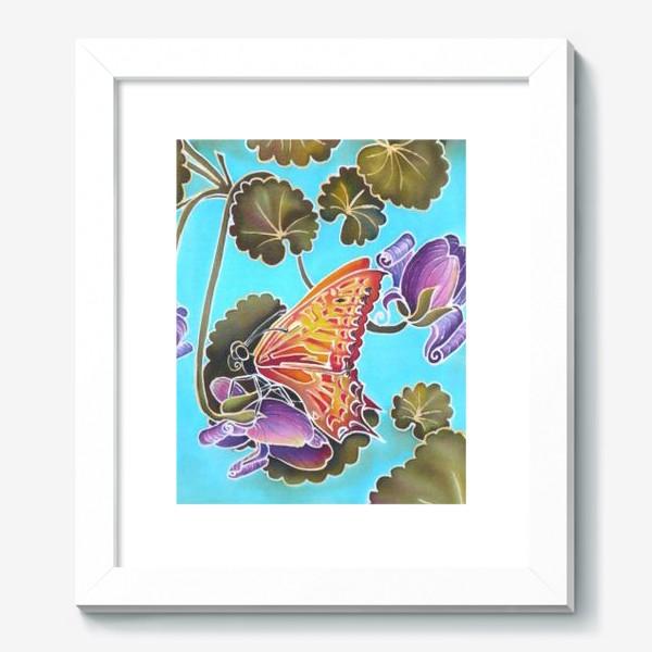 Картина «Цикламен и бабочка »