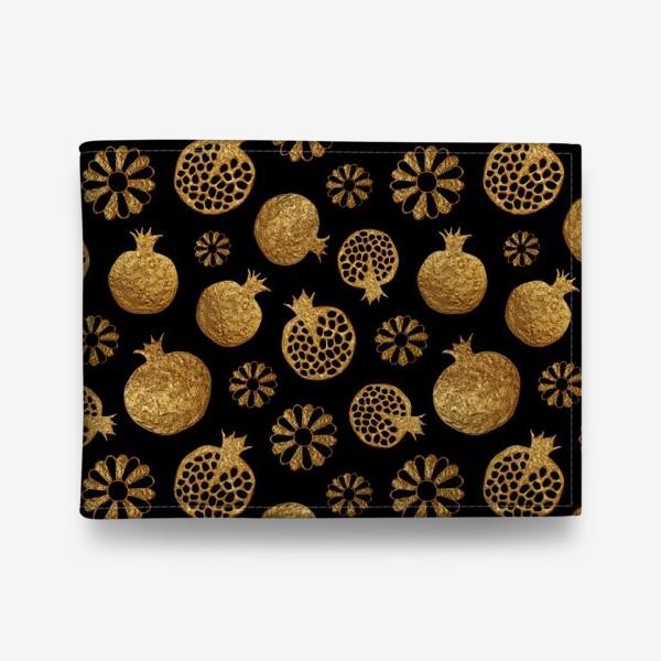 Кошелек «Гранаты и цветы золотые»