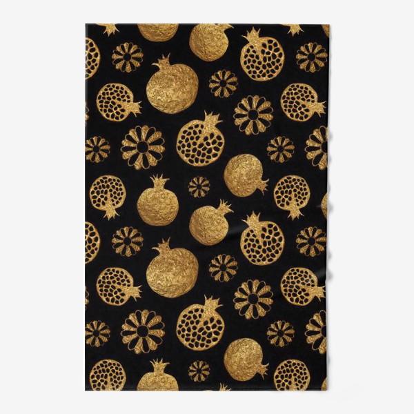 Полотенце «Гранаты и цветы золотые»