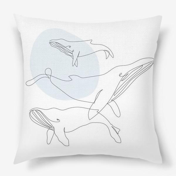 Подушка «Киты»