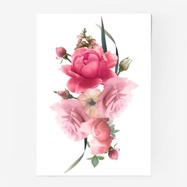 Постер «Розы голд»