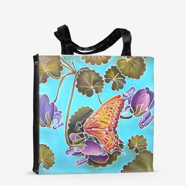 Сумка-шоппер «Цикламен и бабочка »