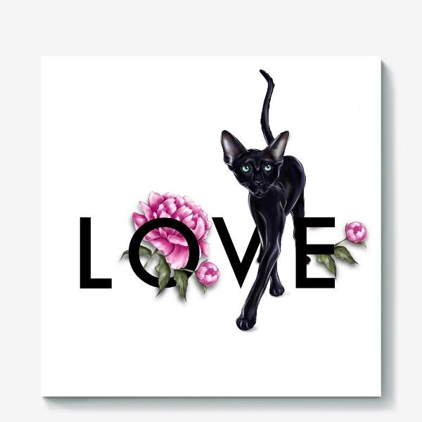Холст «Love cat»